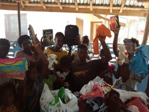 Church Donates to the mustard seed foundation   (Children Of The Mustard Seed Foundation after receiving Gifts from the Church)